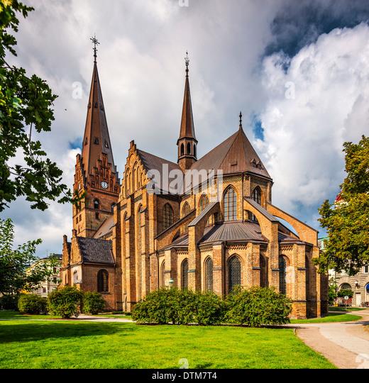 Kirche des Heiligen Petrus in Malmö, Schweden. Stockbild