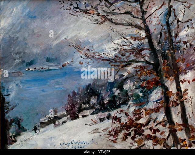 Walchensee Im Winter 1923 LOVIS CORINTH (1858-1925) Deutsch Deutschland Stockbild