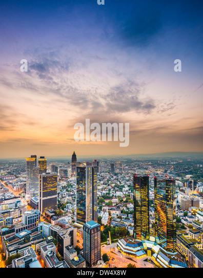 Skyline von Frankfurt am Main, Deutschland. Stockbild