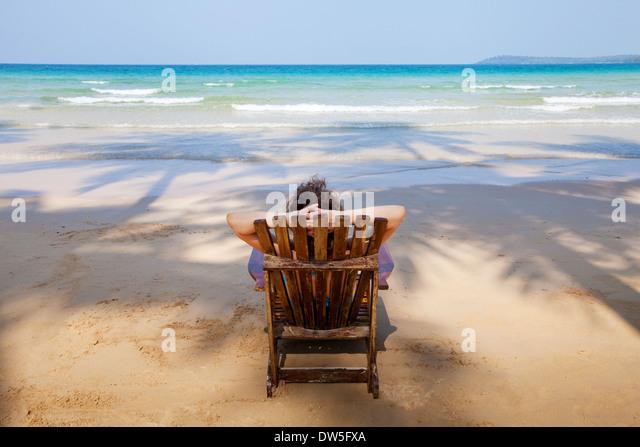 einsamer Strand - Stock-Bilder