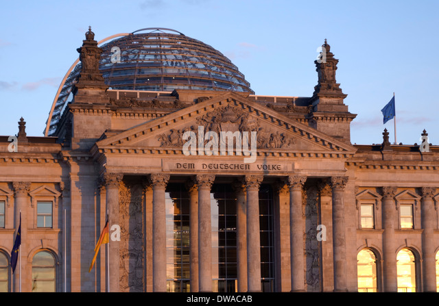 Reichstagsgebäude, Berlin, Stockbild