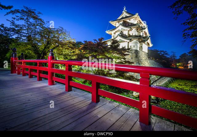 Hirosaki, Japan Hirosaki Schloss stammt aus dem Jahre 1611. Stockbild