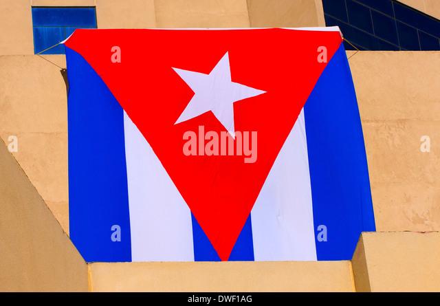 Kubanische Flagge, Havanna Stockbild