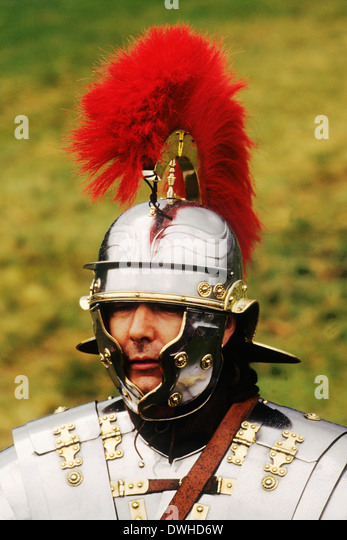 Roman Centurion, 2. Jahrhundert, Reenactment Soldat Soldaten England UK Stockbild