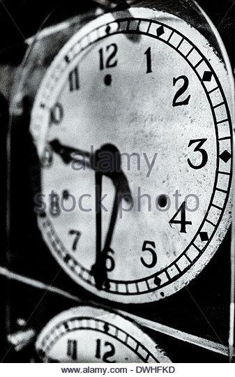 Detail der Eisenbahn Lokomotive Uhren, England, Vereinigtes Königreich. Stockbild
