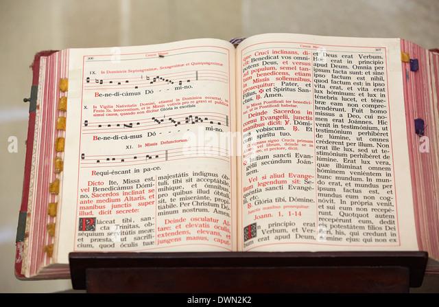 Missale in Jerez Kathedrale, Andalusien, Spanien, Europa Stockbild