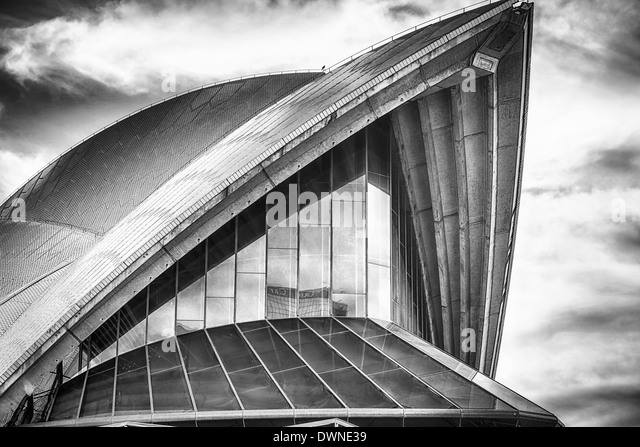 Sydney Opera House Segel Stockbild