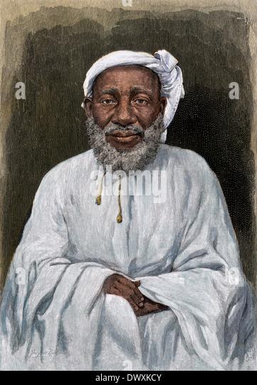 Tippu Tib, Arabische Händler und Entdecker im Kongo Region, 1800 s. - Stock-Bilder