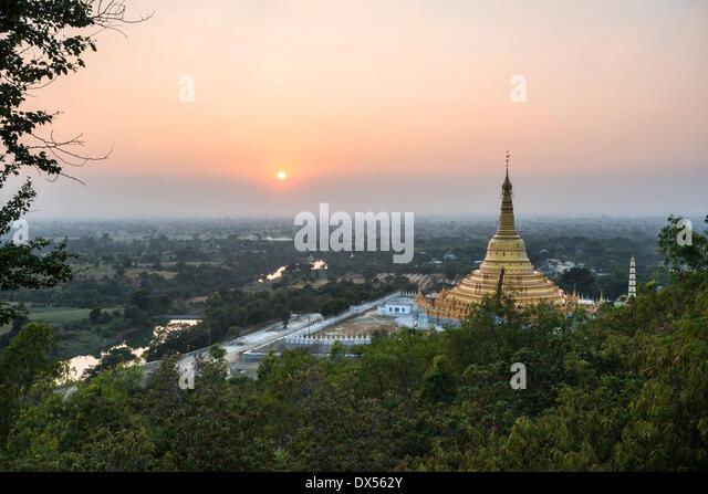 Aung Sakkya Pagode, Maha Bodhi Ta Htaung, Monywa, Sagaing Region, Myanmar Stockbild