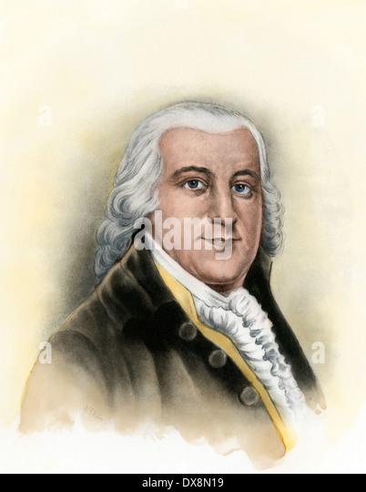 Edward Rutledge, Unterzeichner der Unabhängigkeitserklärung. Stockbild