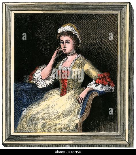 Dorothy Quincy Hancock, Ehefrau von John Hancock. Stockbild