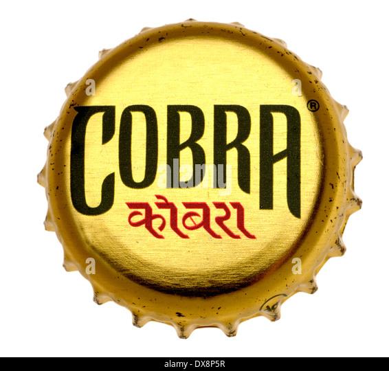 Bier-Kronkorken - Cobra (Indien) Stockbild