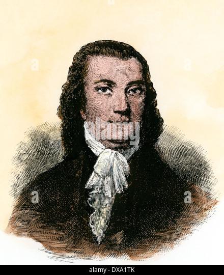 Gründung der Vater Robert Livingston. Stockbild
