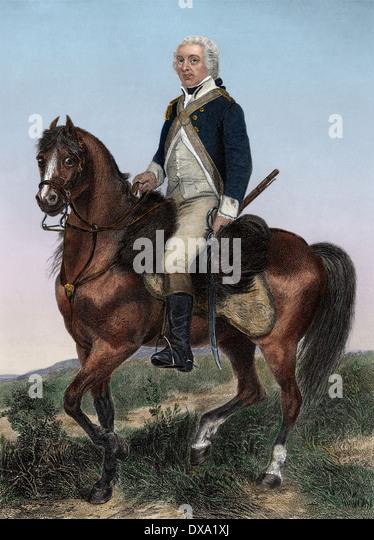 Amerikanischer General Henry Lee, bekannt als Light Horse Harry Lee. Stockbild