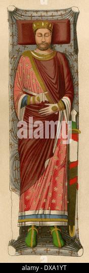Bildnis von englischen König Henry II. auf seinem Grab an Fontevraud Abtei, Frankreich. Stockbild