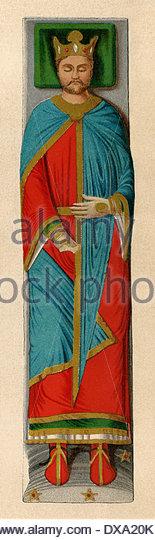 Bildnis des englischen König Richard i. Löwenherz, auf seinem Grab an Fontevraud Abtei, Frankreich. Stockbild