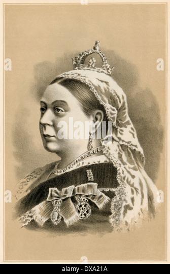 Ihre Majestät, Königin Victoria, 1880 s. Stockbild