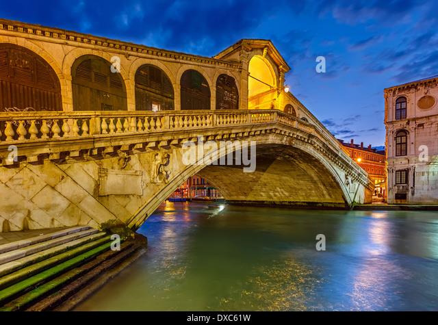 Rialto-Brücke, Venedig Stockbild