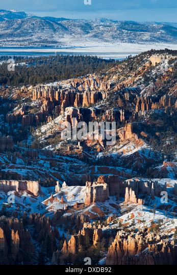 letztes Licht auf die Hoodoos der Bryce Canyon, Utah, USA Stockbild