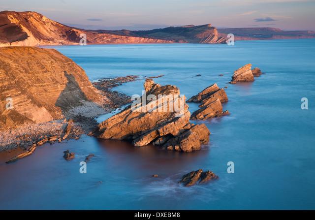 MUPE Bay, Jurassic Coast, Dorset, England, Vereinigtes Königreich Stockbild