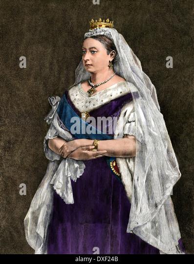 Königin Victoria von England, 1872. Stockbild
