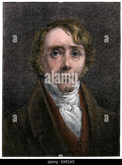 US-amerikanischer Abolitionist Reverend William Ellery Channing, 1800 s. Stockbild