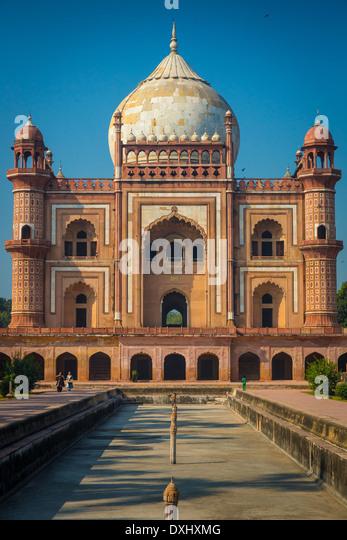 Safdarjung Grab ist ein Sandstein und Marmor-Mausoleum in Neu-Delhi, Indien Stockbild