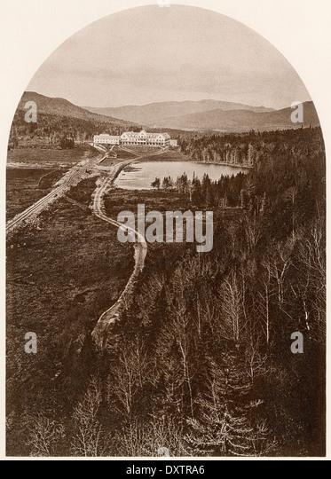 Glen House, ein Resort in den White Mountains in New Hampshire, der 1870er Jahre. Stockbild