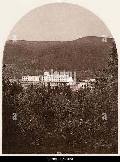 Fabyan House, ein Resort-Hotel in Crawford Notch der White Mountains, New Hampshire, der 1870er Jahre. Stockbild