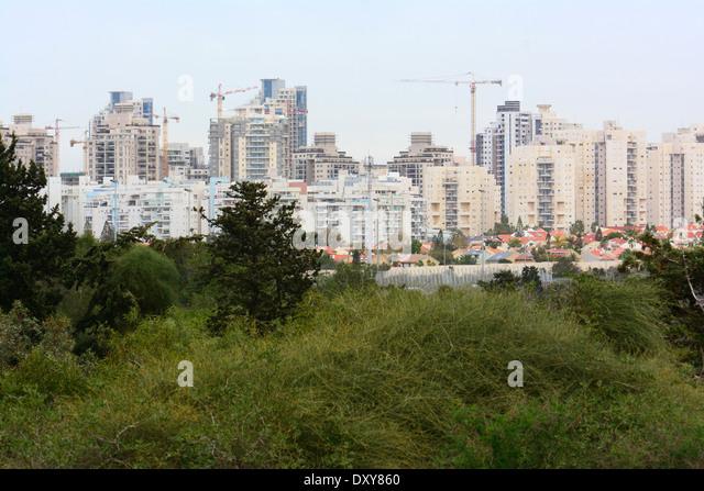 Gebäude in einer Wohngegend, Netanya, Israel Stockbild
