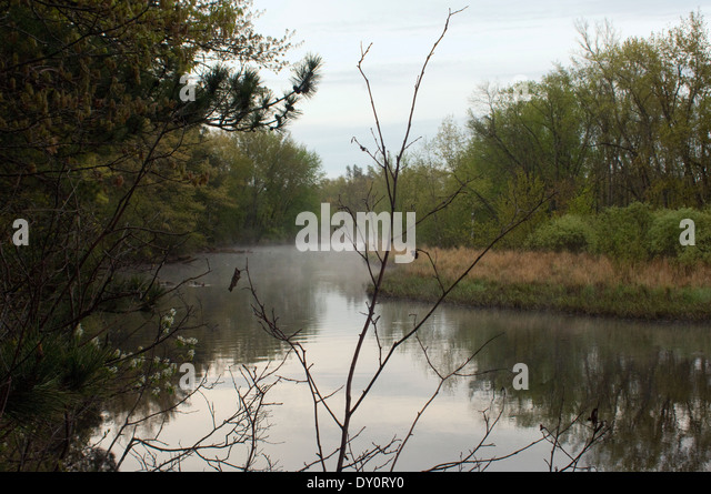 Wolf River im Norden Wisconsins. Stockbild