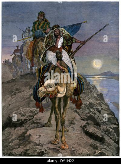 Nil Expedition Khartum zu erreichen versucht, belagerten britischen Streitkräfte, 1884 zu speichern. Stockbild