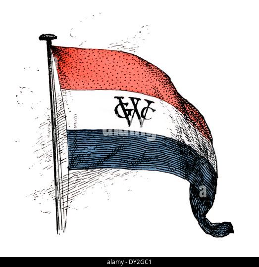Flagge von der Niederländischen Westindien-Kompanie. Stockbild