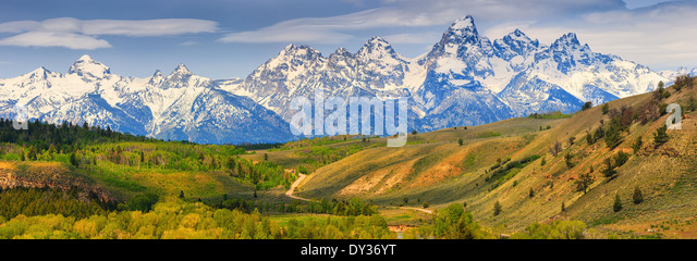 Grand-Teton-Nationalpark im Norden westlichen Wyoming, USA. Stockbild