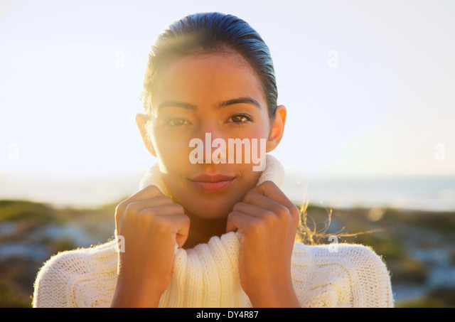 Portrait of Young Woman Stockbild