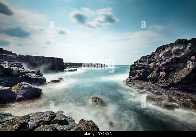 Vulkanischen Felsen an der Küste von Hachijoo, Japan. - Stock-Bilder