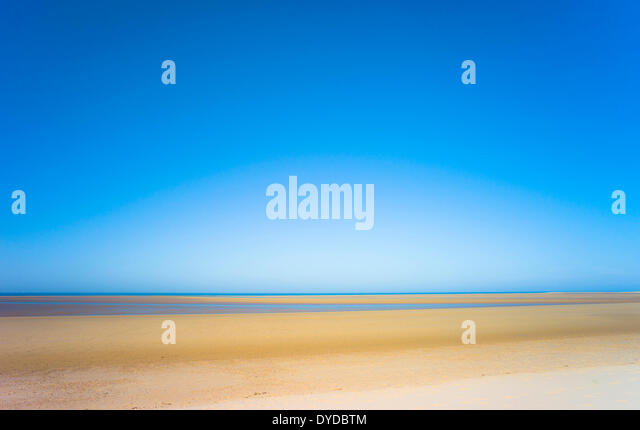 Einem einsamen Strand von Norfolk. Stockbild