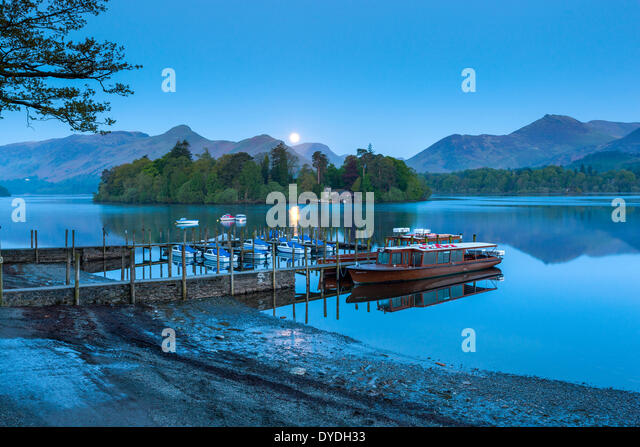 Boote auf Derwentwater im Lake District National Park. Stockbild