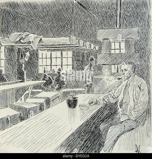 Illustration des Fischer-Kaserne Stockbild