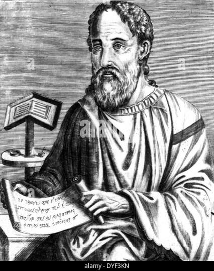 Abbildung von Eusebius von Caesarea. Stockbild