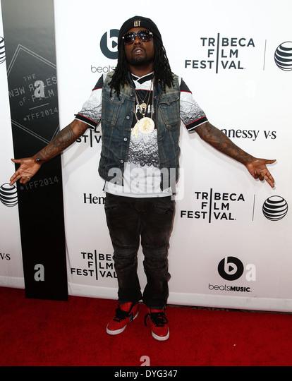 """Rapper Wale besucht die Weltpremiere von """"Zeit ist Illmatic"""" die 2014 TriBeCa Film Festival Opening Night. Stockbild"""