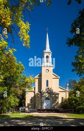 Eine katholische Kirche in vergessen, Saskatchewan, Kanada. Stockbild