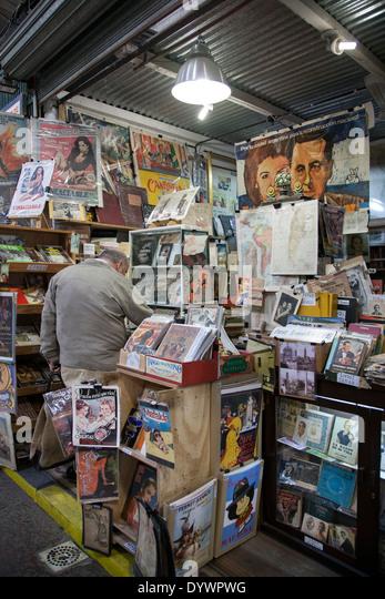 Antiquariat. San Telmo Markt. Buenos Aires. Argentinien Stockbild