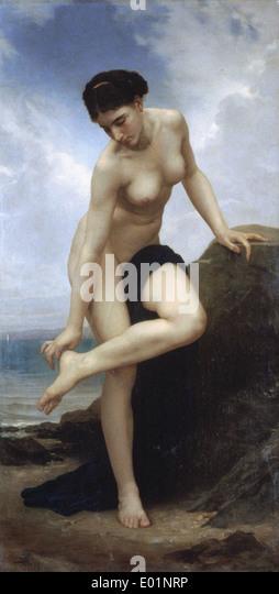 William Bouguereau nach dem Bad Stockbild