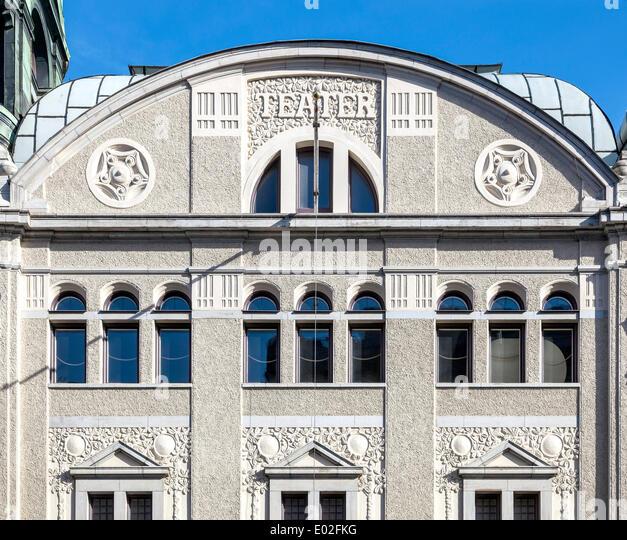 Oscar-Theater oder Oscarsteatern, Jugendstil, Stockholm, Stockholms län, Schweden Stockbild