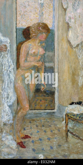 Pierre Bonnard nach dem Bad Stockbild