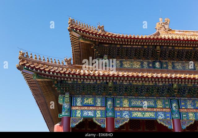 Detail des Daches, Verbotene Stadt - Stock-Bilder
