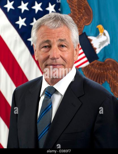 US-Verteidigungsminister Chuck Hagel Stockbild