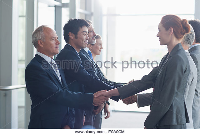 Gruppe von Geschäftsleuten Stockbild