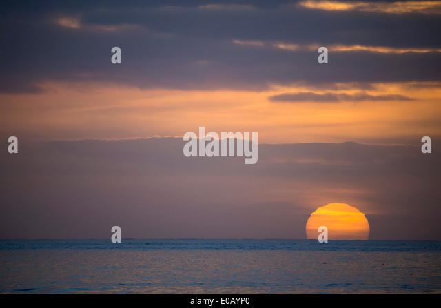 Deutschland, Sonnenuntergang über der Nordsee Stockbild